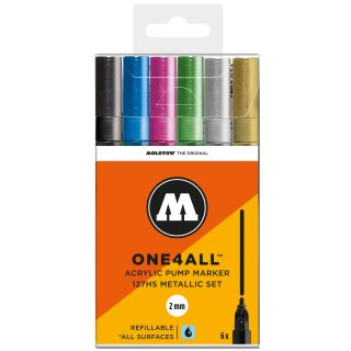 MOLOTOW - ONE4ALL Acrylic Marker 127 HS Metallic-Set