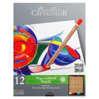 Mega Colored Pencils in Metallbox permanent Buntstifte Cretacolor