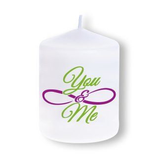 You & Me 70 x 60 mm Motivkerze